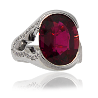 Rubellite Ring WG with Diamonds