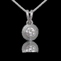 Round Solitaire Diamond Pendant